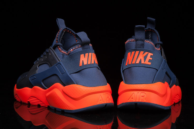 cheaper b723b 70f95 ... Nike Air Huarache Run Ultra BR Breeze Navy Orange Men Running Shoes  Sneakers 833147-403