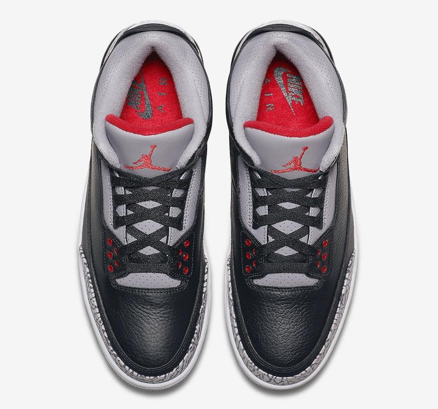new arrival 535b3 e8ac4 ... Air Jordan 3 Retro OG Black Cement 2018 Black Cement Grey White Fire  Red 854262 001 ...