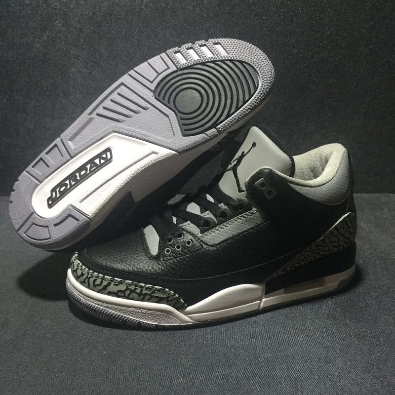 factory authentic 86b2e ea648 Nike Air Jordan III 3 Crack Gray Cymbidium Sinense Men Basketball Shoes  Leather