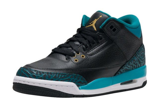 new concept 27dee 2f306 ... low price prev nike air jordan iii 3 gs jaguars black metallic gold rio  teal white
