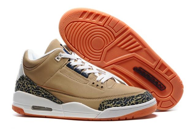 2a8cbb73da0865 Prev Nike Air Jordan III 3 Retro Bronze Brown Black White Orange Men  Basketball Shoes 136064-. Zoom
