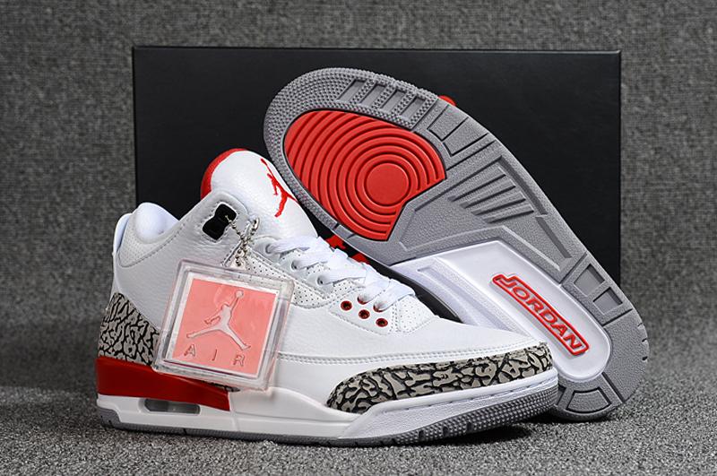 more photos d7bf6 dc804 Prev Nike Air Jordan 3 Katrina Hall of Fame Retro White Cement Fire Red  136064-116
