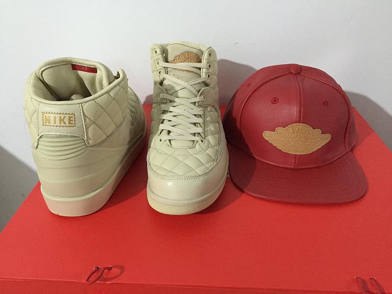 860e6fcbea53 ... Nike Air Jordan 2 Retro Just Don Don C DS Beach Hat Gold Pin Beach  Metallic ...