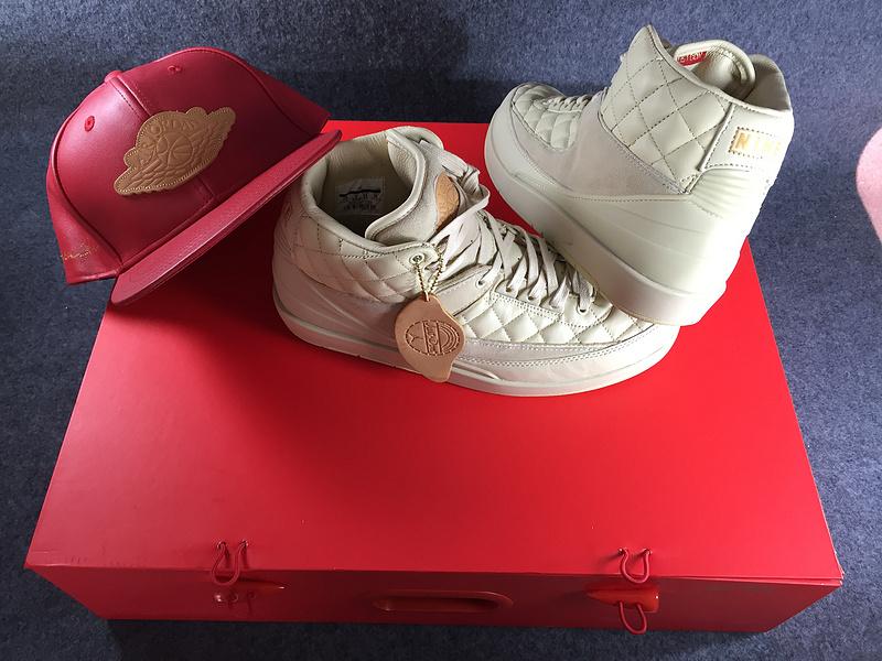 Nike Air Jordan 2 Retro Just Don Don C DS Beach Hat Gold Pin Beach Metallic de826bb667b