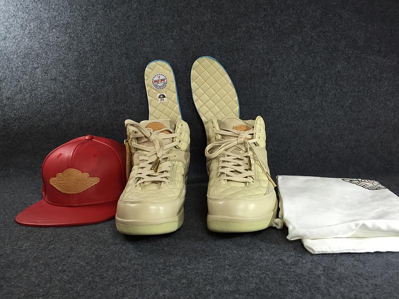 ab338deef ... Nike Air Jordan 2 Retro Just Don Don C DS Beach Hat Gold Pin Beach  Metallic