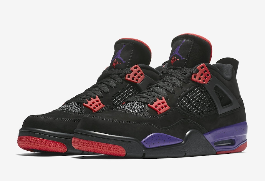 516941251ee Prev Air Jordan 4 NRG Raptors Black University Red Court Purple AQ3816-065