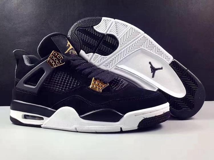 promo code 61832 84eae Prev Nike Air Jordan 4 IV Royalty AJ4 Retro Men Shoes Black Gold 308497-032