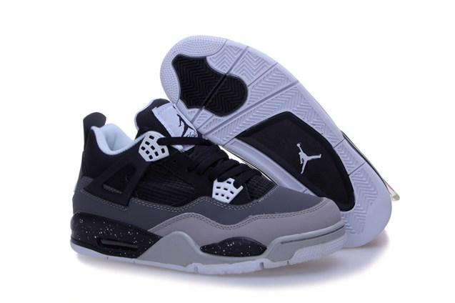 adaee1053ef Air Jordan 4 Retro Fear Pack Black Grey White 626969 030 - Febbuy