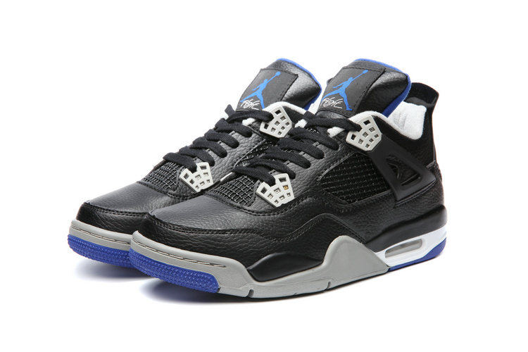 a7cade38654c Nike Air Jordan IV Retro 4 Alternate Motorsports 2017 Black Blue Basketball Shoes  308497-006 ...