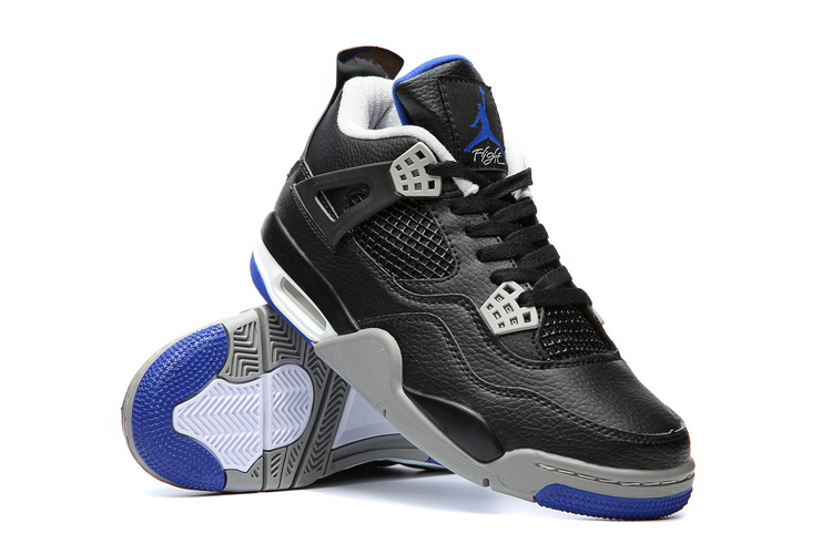 7946155b4365 ... Nike Air Jordan IV Retro 4 Alternate Motorsports 2017 Black Blue  Basketball Shoes 308497-006 ...