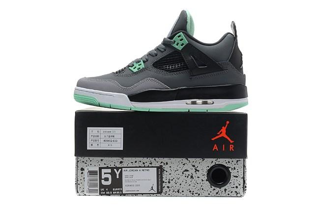 9b3bbf06ee1 Nike Air Jordan Retro IV 4 Grey Green Glow Bred Cavs Fear Men Women ...