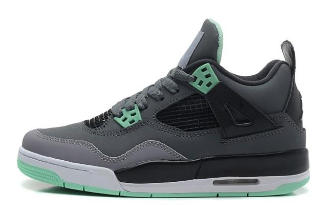 9e8d6846198 Nike Air Jordan Retro IV 4 Grey Green Glow Bred Cavs Fear Men Women Shoes  626969 ...