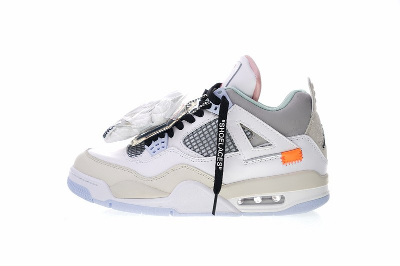 online store 23b54 8af11 Off White x Air Jordan 4 Retro Encore Han Yubai Light Beige Grey 930115-001