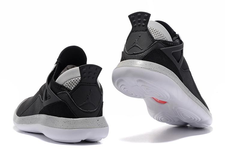 c6a50ee043be Nike Air Jordan Fly 89 AJ4 black white Running Shoes - Febbuy