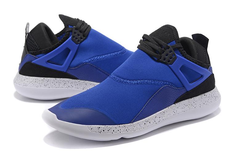 cc16b3492e11 Nike Air Jordan Fly 89 AJ4 blue white black Running Shoes - Febbuy