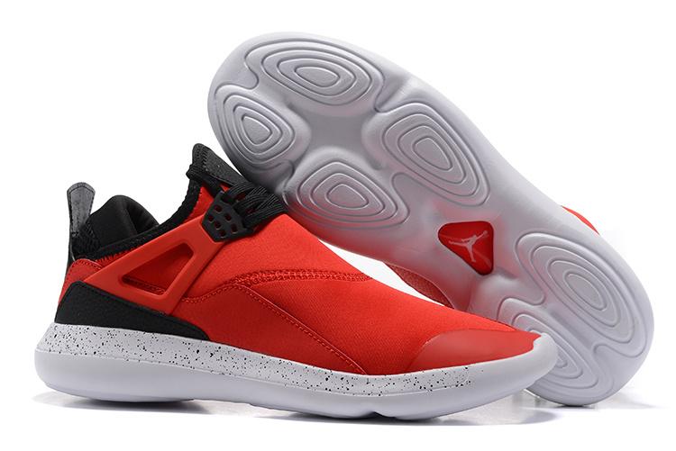 e9e1651d1e76ab Nike Air Jordan Fly 89 AJ4 red black white Running Shoes - Febbuy