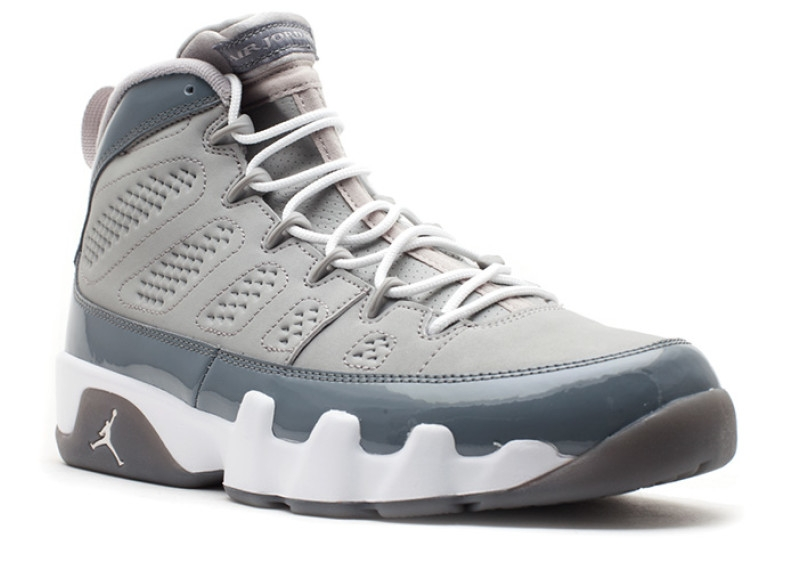ffb7556d2459be Air Jordan 9 Cool Grey Medium Grey White-Cool Grey 302370-015 - Febbuy