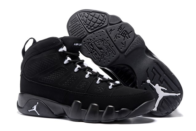 6d6cd7afbc3180 Nike Air Jordan 9 Retro IX Anthracite White Black Shoes 302370 013 ...