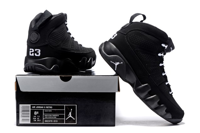 22b0fceb371c41 ... Nike Air Jordan 9 Retro IX Anthracite White Black Shoes 302370 013  Unisex ...