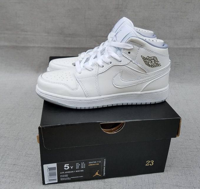 Jordan I White Women Air 1 Retro Ds Shoes Nike New All 2017 L435ARj