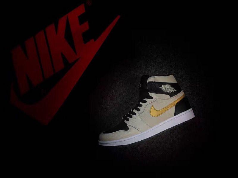 30aa87d464b7c Prev Nike Air Jordan I 1 Retro HIGH Pearl Grey Black Gold Men Basketball  Shoes. Zoom
