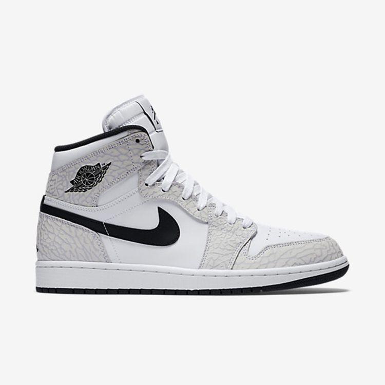 7611c015 Prev Nike Air Jordan I 1 Retro High Shoes Sneaker Basketball Men Cracks  White Gray