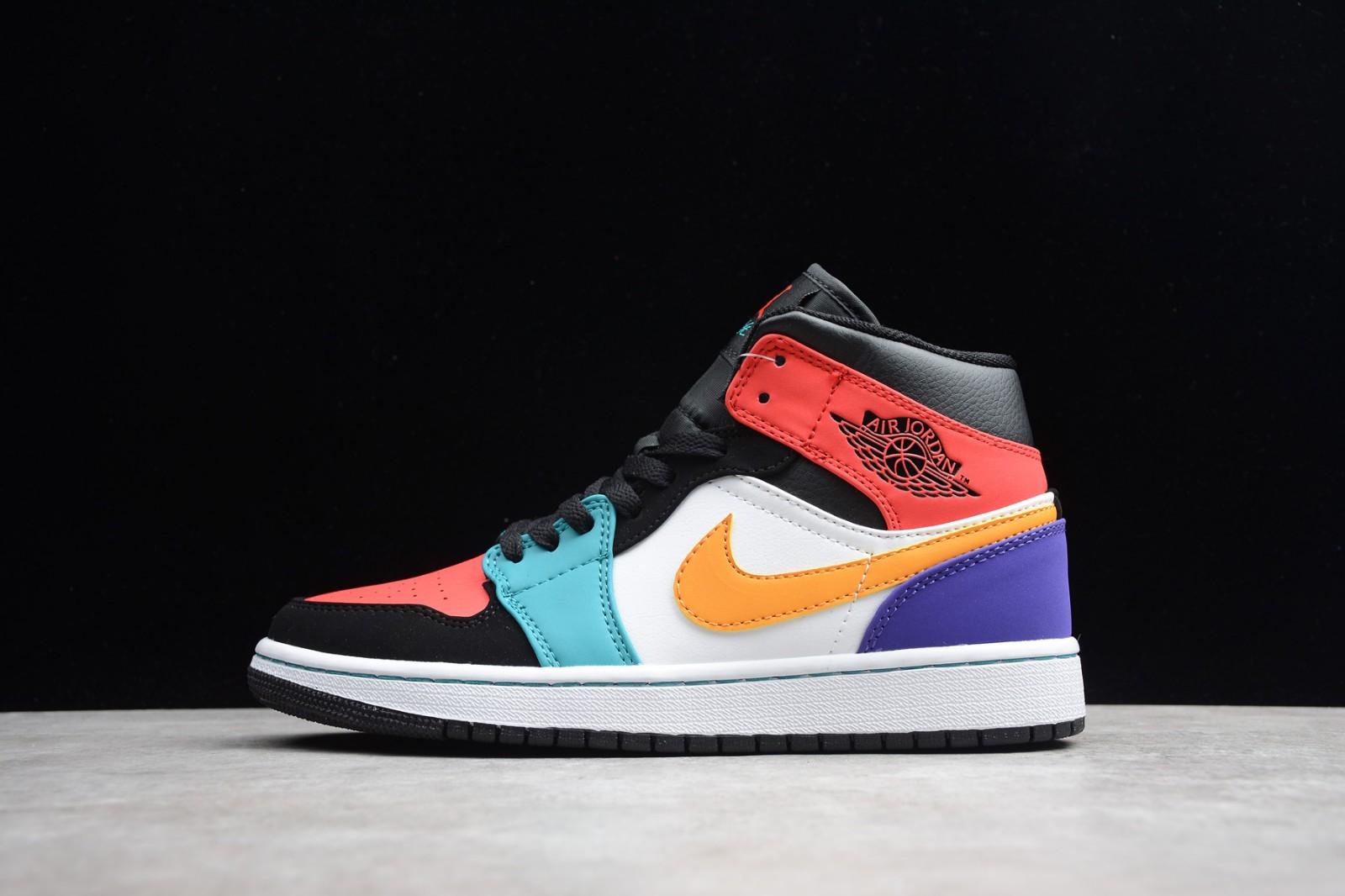 a5ec16fcee5736 Prev Nike Air Jordan 1 Mid Multi Color 554724-125. Zoom