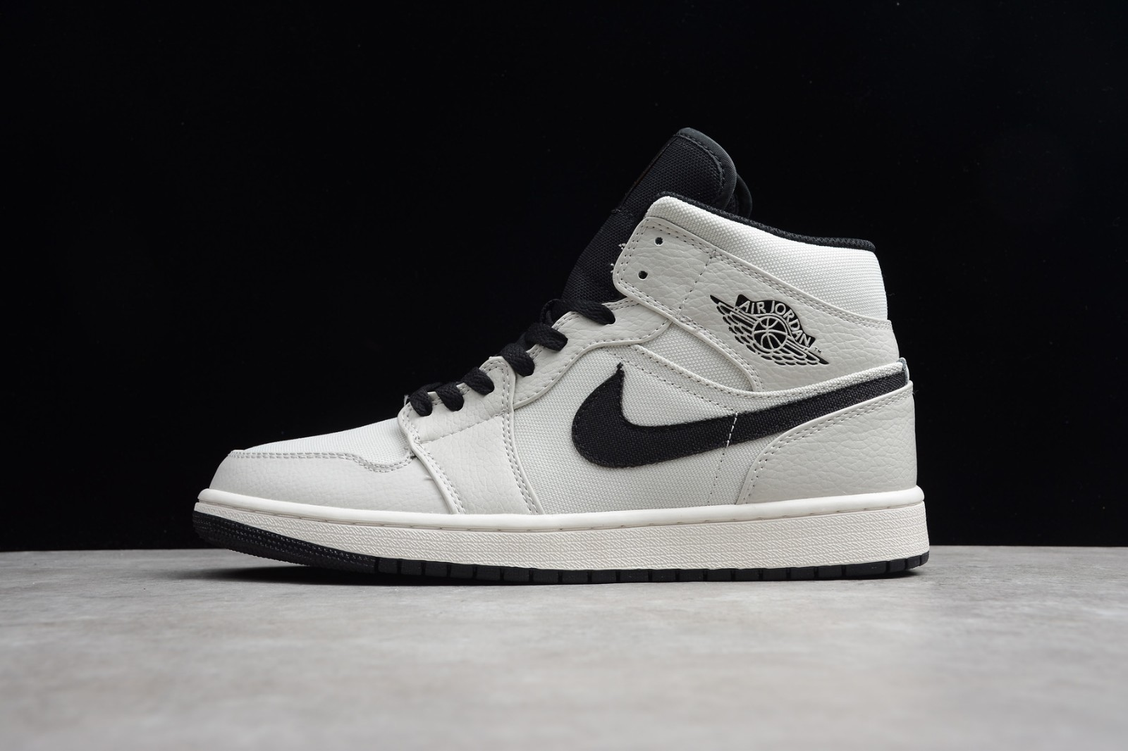 40c53b9a51d157 Prev Nike Air Jordan 1 Mid SE Canvas Light Bone Cone Black Sail 852542-002