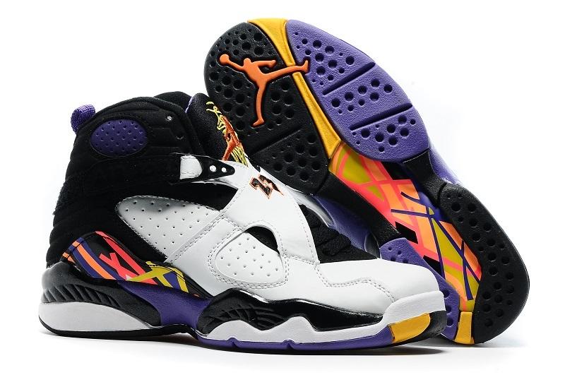 new concept 4e5fa 21d00 Prev Nike Air Jordan Retro 8 White Infrared 23 Black Bright Men women  Basketball Shoes 305381-. Zoom