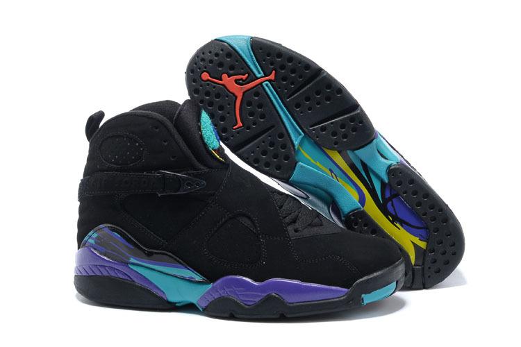1f7dbb4a37b Prev Nike Air Jordan Retro VIII 8 AQUA Purple Concord Multi Color  Basketball Shoes 305381-025. Zoom