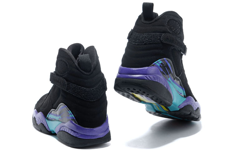 2e283faf39e Nike Air Jordan Retro VIII 8 AQUA Purple Concord Multi Color Basketball  Shoes 305381-025