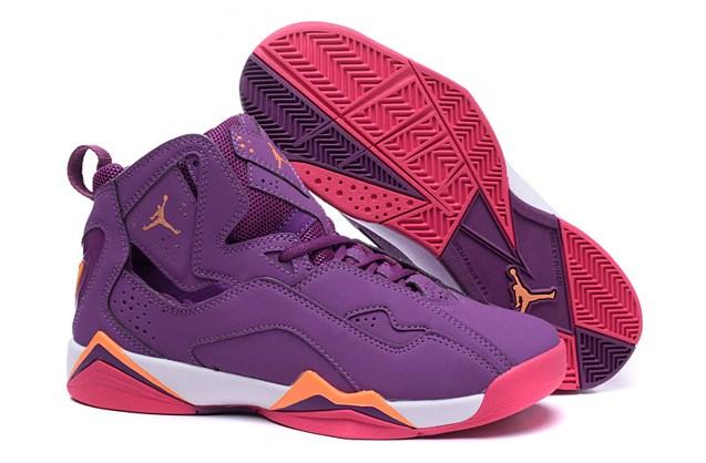 d1eb1ac0091d66 Nike Air Jordan True Flight AJ7.5 Grap Orange Pink GS Women Shoes ...