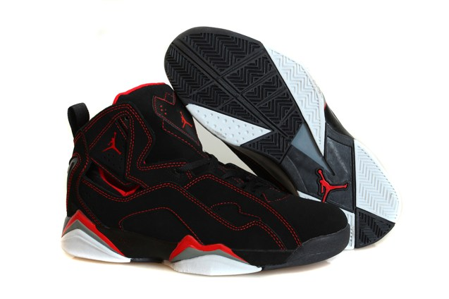3ca68e5ebec062 Nike Air Jordan True Flight Black Infrared Retro 7 VII Men Shoes ...