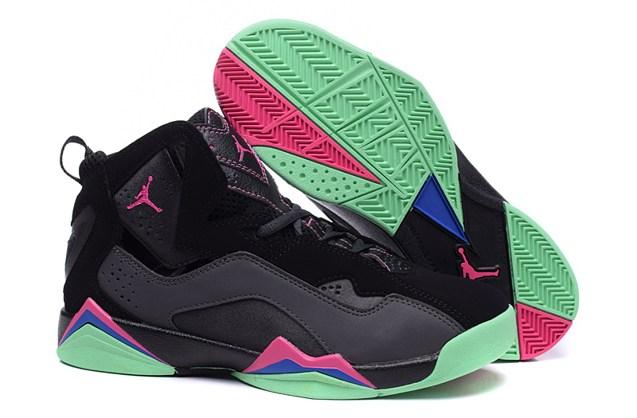 a2a22c779ec6bb Nike Air Jordan True Flight GG Yeezy Black Pink Green GS Youth ...