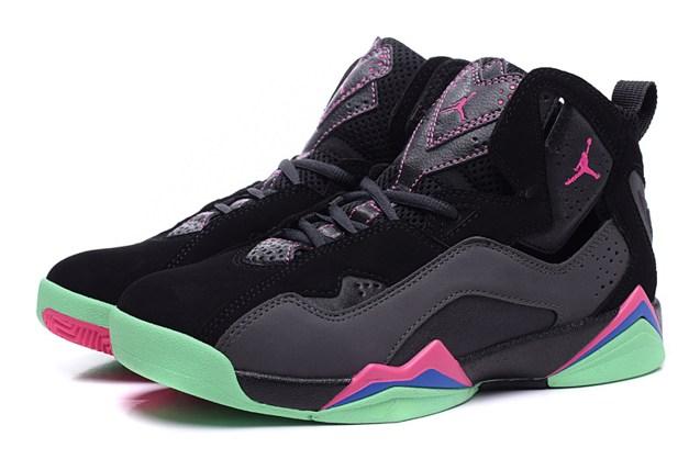 f6028aefe8e611 ... Nike Air Jordan True Flight GG Yeezy Black Pink Green GS Youth 342774  039 ...