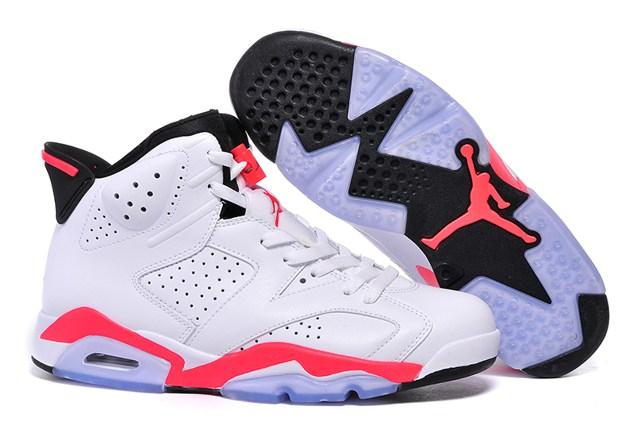 Prev Nike Air Jordan 6 VI Retro BG White Infrared Black Women Shoes 384665  123 efb497d1d9