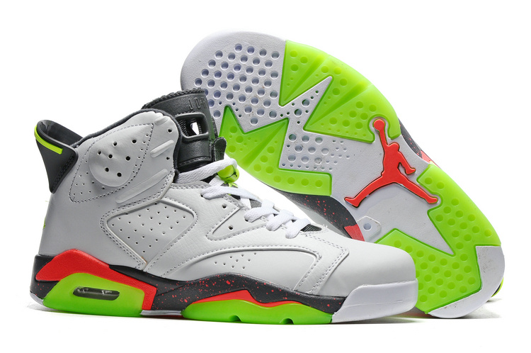 brand new a1f4d 355ca Prev Nike Air Jordan 6 VI Retro White Cement Grey Green Red Men Shoes  384664-018. Zoom