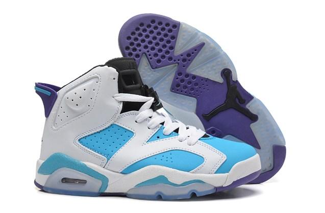 buy online 9cb89 ad9bf Prev Nike Air Jordan 6 VI Retro White Sky Blue ...