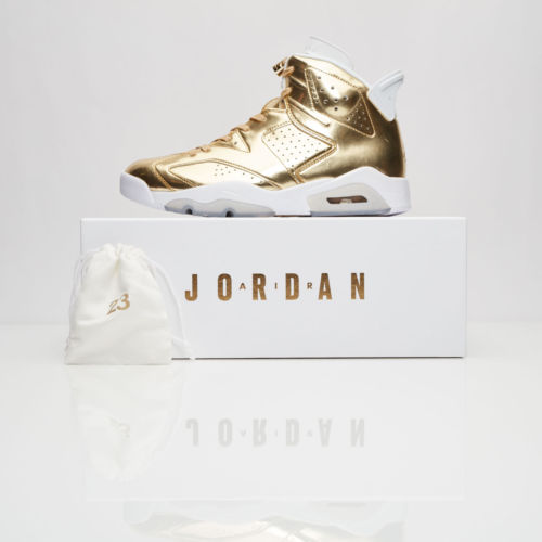 dc22bb6a1bf Nike Air Jordan Retro 6 Pinnacle Metallic Gold Men Shoes DS 854271-730 ...