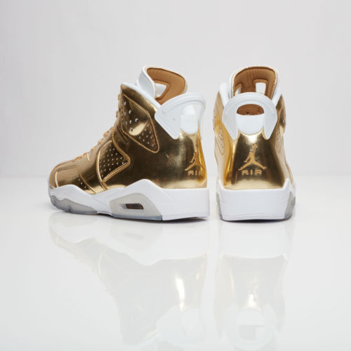 7beae25bbbf ... Nike Air Jordan Retro 6 Pinnacle Metallic Gold Men Shoes DS 854271-730  ...