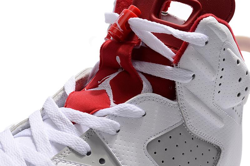 0f373054cf000e ... Nike Air Jordan Retro 6 VI ALTERNATE Hare White Platinum Red Men Shoes  384664-113 ...