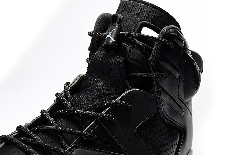 the latest 66e93 fbf87 ... Nike Air Jordan Retro VI 6 Black Cat Black White Men Shoes 384664-020  ...