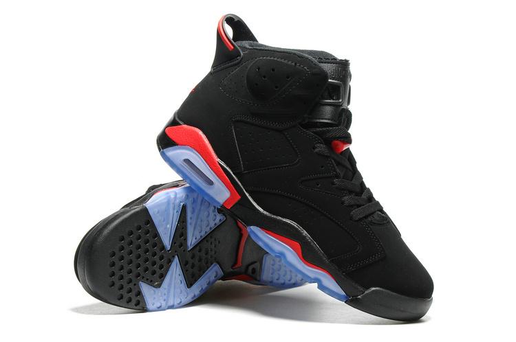 e702b7629cd331 ... Nike Air Jordan VI 6 Retro Black Infrared 23 Black Red Men Shoes  384664-025 ...