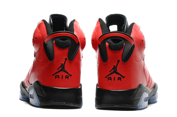 26f80945bc0afc Nike Air Jordan VI 6 Retro Infrared 23 Red Black Toro Men Basketball Shoes  384664-