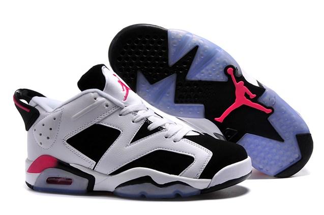 new concept b4501 76678 Prev Nike Air Jordan Retro 6 Low White Black Sport Fuchsia Shoes For Lovers  768878 107. Zoom