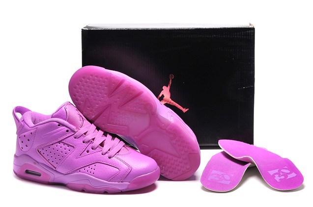 timeless design ab0f5 b7242 Nike Air Jordan Retro 6 VI GG GS Valentines Day Pink Rose 543390 109