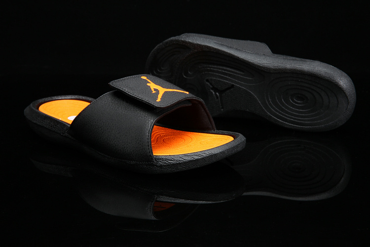 e15aded79 Nike Jordan Hydro 6 black orange yellow Women Sandal Slides Slippers ...