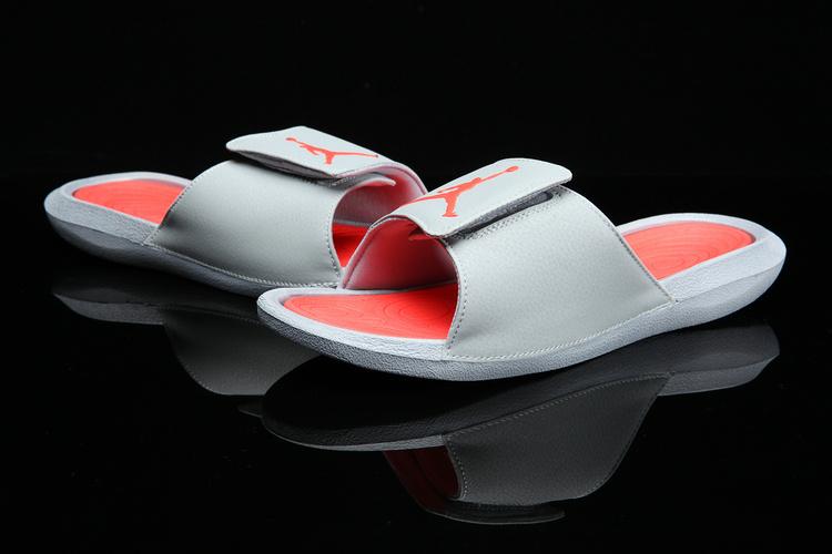 f1bbf28f392 ... Nike Jordan Hydro 6 grey orange men Sandal Slides Slippers 881473-028