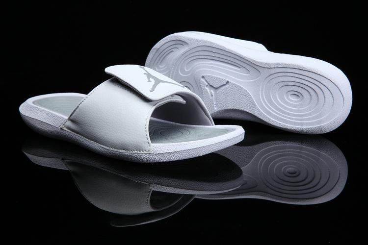 566d0a72d74d Nike Jordan Hydro 6 white grey Women Sandal Slides Slippers 881474 ...