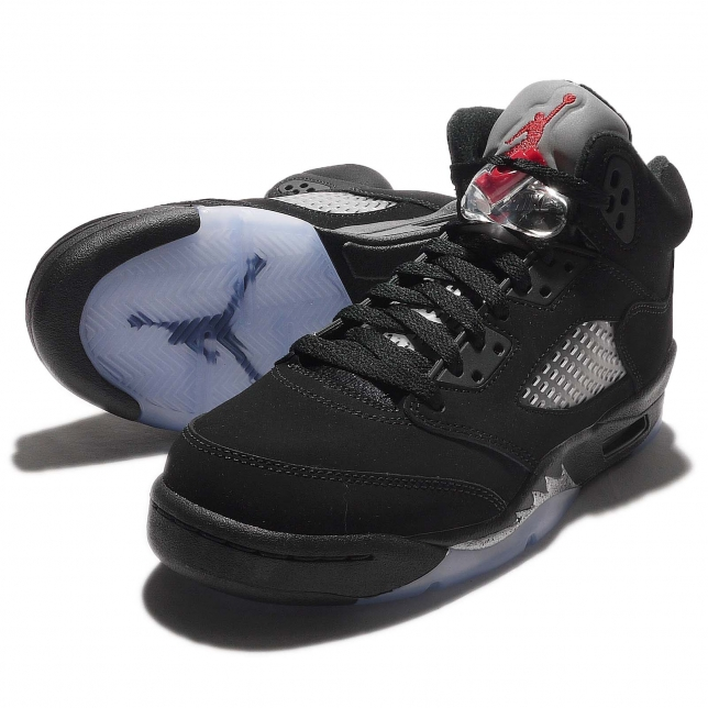 performance sportswear good looking new lower prices Air Jordan 5 OG GS Black Fire Red-Metallic Silver 845036-003 Is ...